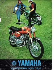 1969 Yamaha 350 Grand Prix model R-3 original sales brochure(Reprint) $7.50
