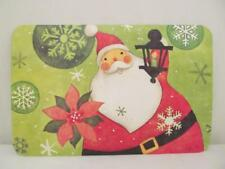 CounterArt Reversible Placemats (Set of 4) Jolly Ole Man Christmas Green and Red