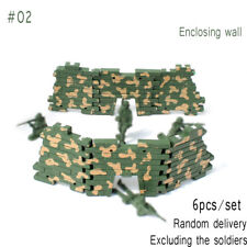 100pcs Military Soldiers Army Men Figures 12 Poses Aircraft Tanks Kids Toy #02 Fence