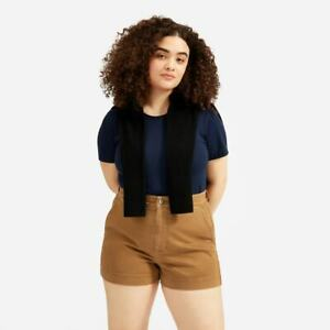 Everlane Women's The Cotton Twill Short Color Ochre Size 4 NWT