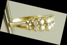 Sz 7 Vintage 1980s Diamond Ring 14K Gold .30 ctw Was $460 Now $265