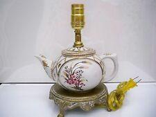 Handpainted Teapot Porcelain Lamp