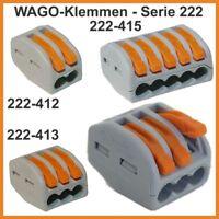 10 Stk. lösbare Wago-Klemme 3-pol. (222-413) Steckklemmen Dosenklemmen
