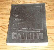 Original 1986 Cadillac Fleetwood Brougham Service Shop Manual 86