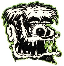 Cyclops Jagged Tooth Monster Artist Kruse Embroidered Iron On Applique Patch