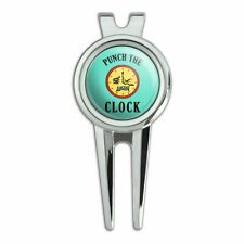 Punch The Clock Funny Humor Golf Divot Repair Tool and Ball Marker