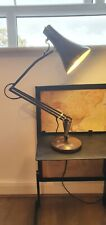 Vintage Anglepoise Brown Metal Adjustable Height Table Lamp Heavy Base L/R