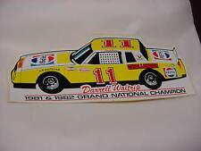 Darrell Waltrip vintage Pepsi Challenger # 11 1981 & 1982 Champion car sticker