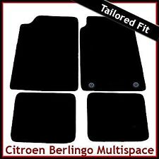 Citroen Berlingo Multispace Mk1 1996-2007 2-Clips Tailored Carpet Mats BLACK