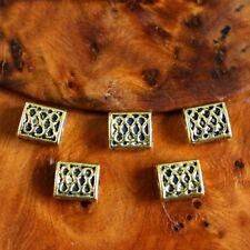 5 Perles Spacers   PAVE CELTIQUE    Métal VIEIL OR - 6 / 7 mm