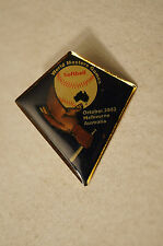 Collectable - Melbourne 2002 - World Masters Games - Softball - Badge - Pin
