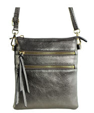 New Functional Multi Pocket Crossbody Bag 80808A PEWTER,WITH TAGS,READY TO SHIP