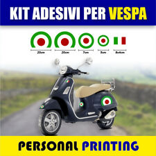 Kit 5 adesivi VESPA Bandiera ITALIA stickers decal PIAGGIO VESPA GTS PX