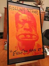 """Big 11X17 Framed Rolling Stones """"Exile On Main Street"""" Lp Album Cd Ad Page+ more"""