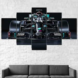 Mercedes-AMG Formula 1 W11 Car F1 Canvas Framed 5 Pcs Wall Art Poster Decor