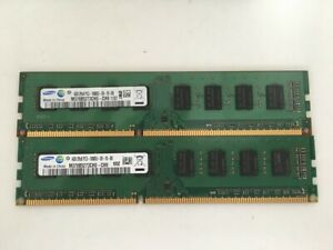 KIT MEMORIE RAM 2 x 4 GB = 8 GB DDR3 SAMSUNG PC3 10600U 1333 MHz 240 PIN DESKTOP