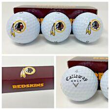 New listing Washington Redskins Retired Logo Pack of 3 Callaway Warbird Golf Balls New