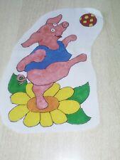 Window Color Bild Schweinchen auf Blume