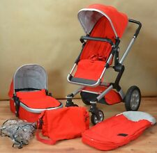 Joolz Day Travel System, Pram, Pushchair, Carrycot in Red & accessories