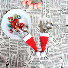 Decorative Christmas Small Hat Storage Tool Bag tableware Knife Fork Set