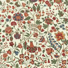 Textiles français Les Fleurs d'Inde Fabric 100% Cotton 140cm wide Green/Red