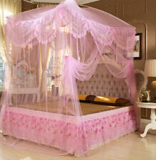 Pink Lace Princess Mosquito Net Canopy Bites Protect Twin Full Queen King Size