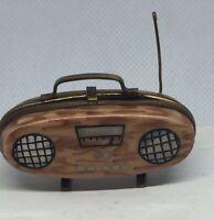 "Limoges Peint Main ""Boombox / Radio / Cassette Player"" Signed trinket box"