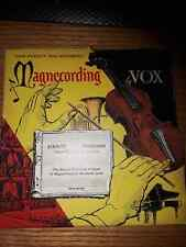 "RARE VINTAGE MAGNECORDER REEL TO REEL TAPES 1955 MAGNECORDING by VOX 7 1/2"""