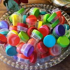 102 Screw Top Plastic JARS 1/4oz .25oz Sample Containers Pot  3301 DecoJars USA