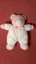 "8.5"" Eden PASTEL BEAR RATTLE STRIPES POLKA DOTS plush stuffed baby toy"
