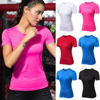 Women Short Sleeve Tops T Shirt Sport Gym Fitness Running Athletic Tee Sportwear