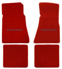 NEW! Red FLOOR MATS 2010-2015 Camaro Embroidered Logo in Red 4 pc Set Front Rear