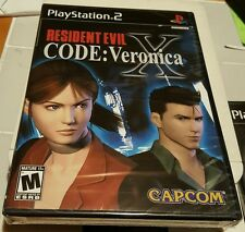 RESIDENT EVIL CODE VERONICA X BLACK LABEL PS2 GAME SONY YFOLD FACTORY SEALED NEW