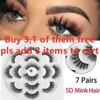 SKONHED 3D Mink Hair False Eyelashes Wispy Cross Lashes Fluffy Lashes-Extension-