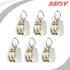 """6x 20mm 3/4"""" Double Pulley Swivel Eye Wheel Block Snatch Rope Pully Lifting"""
