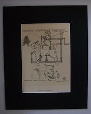 Dalmation Terrier Dog Print Cecil Aldin Show Handlers Bookplate Matted Comical