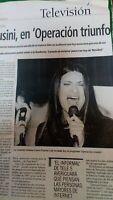 Laura Pausini. Operacion Triunfo. 2001