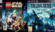 Lego Star Wars Complete Saga Usado & cayendo cielos el juego NUEVO y Sellado PS3 PAL