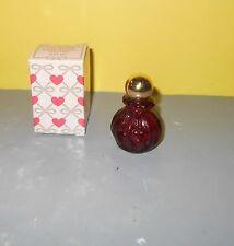 AVON Heartstrings Red Decanter Sweet Honesty Cologne .5 oz Full w/ Box