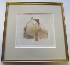 JIRI BORSKY HOUSE WITH PILLAR BOX ORIGINAL SIGNED LTD.ED ETCHING VINTAGE ARTWORK