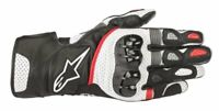 GUANTI MOTO ALPINESTARS SP-2 V2 GLOVES BLACK RED WHITE PROTEZIONI CERTIFICATE