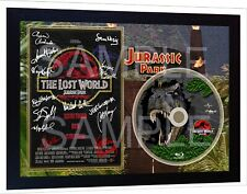 JURASSIC PARK  2 The Lost World Movie TV SIGNED FRAMED PHOTO AND DVD Disc