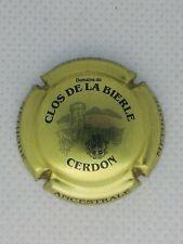 Capsule de mousseux crémant Clos de la Bierle or et noir peu courante à saisir !
