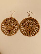 AM/_ Women Boho Antique Golden Hollow Leaves Dangle Hook Earring Jewelry Gift Hea