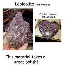 10 pounds Purple LEPIDOLITE cabbing rough MICA Wyoming   BIG  tumbling - ten LB