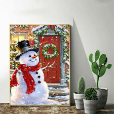 Christmas DIY Snowman 5D Diamond Painting Embroidery Cross Stitch Crafts Gift