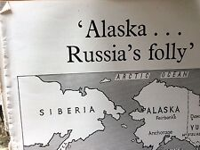 A1v ephemera article 1960s the sale of alaska to the usa by russia kleber