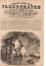 1862 Leslie's - February 22 - National Gunboats bombard Fort Henry on Tennessee
