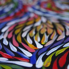 "ABORIGINAL ART PAINTING by JANET GOLDER KNGWARREYE ""BUSH LEAVES"" Authentic, WIP"