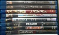 Huge Horror Blu-Ray Lot LIKE NEW Creepshow, Rob Zombie, Puppet Master & more